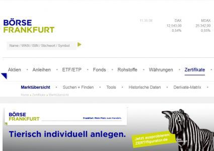 Zertifikate Börse Frankfurt Feiert 10 Jähriges Handelssegment
