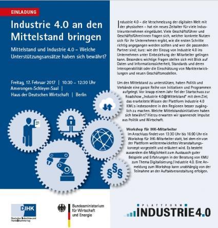 dihk einladung industrie 40 mittelstand - Industrie 40 Beispiele